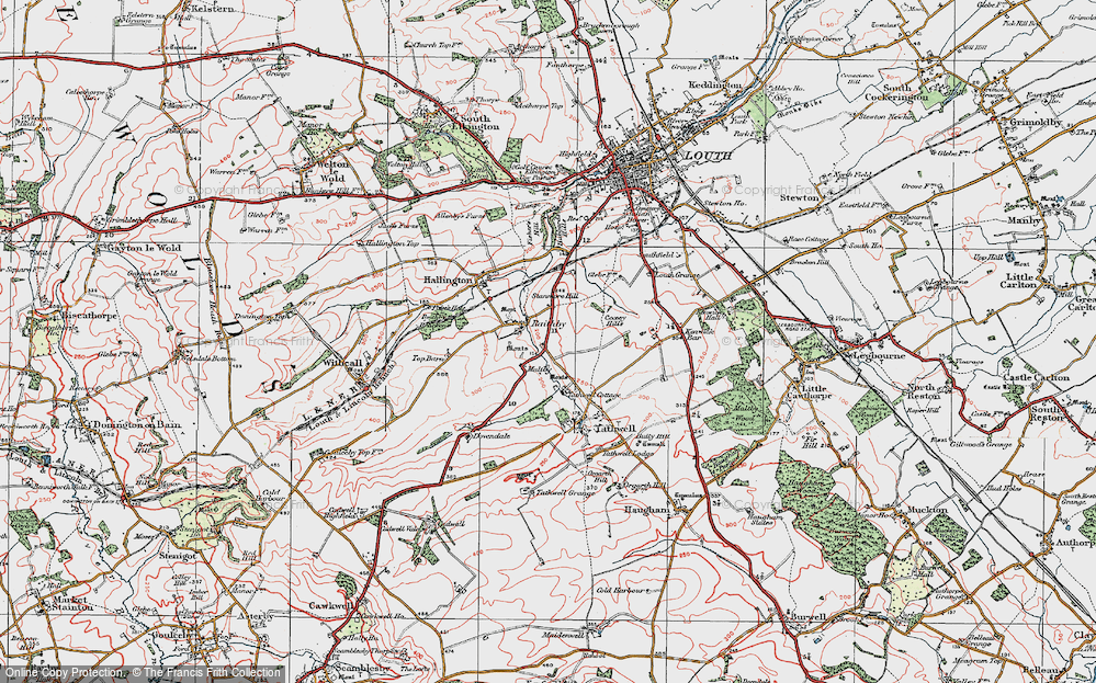 Old Map of Historic Map covering Coxey Hills in 1923