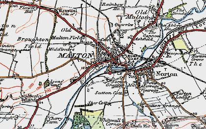 Old map of Malton in 1924