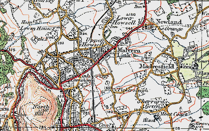 Old map of Malvern Link in 1920