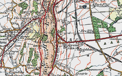Old map of Malvern Wells in 1920