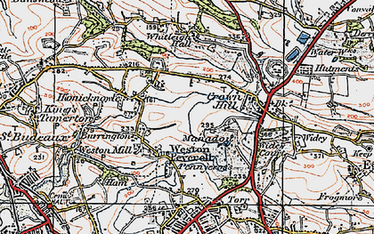 Old map of Manadon in 1919