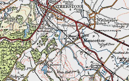 Old map of Mancetter in 1921