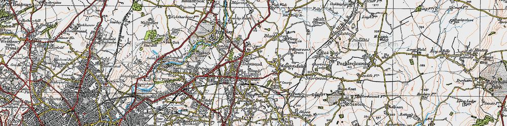 Old map of Mangotsfield in 1919