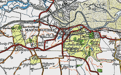 Old map of Manningtree in 1921