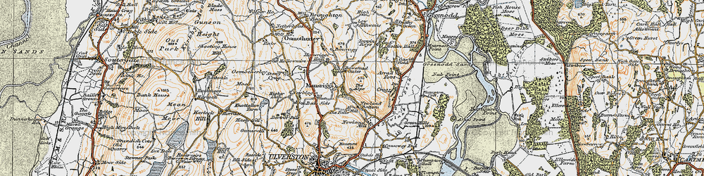 Old map of Alps, The in 1925