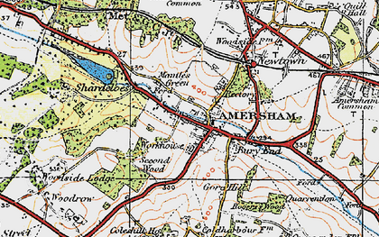 Old map of Mantles Green in 1920