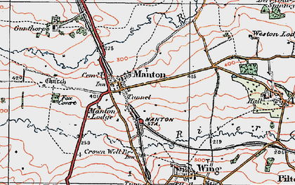 Old map of Manton in 1921