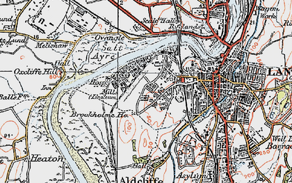 Old map of Abraham Heights in 1924