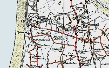 Old map of Anchorsholme in 1924