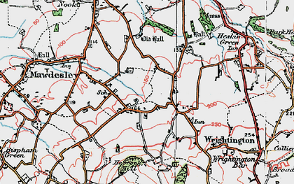 Old map of Andertons Mill in 1924