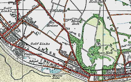 Old map of Ansdell in 1924