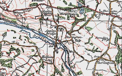 Old map of Appley Bridge in 1924
