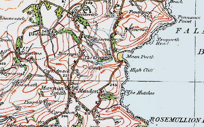 Old map of Bareppa in 1919