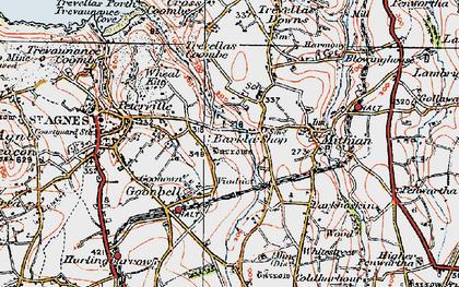 Old map of Barkla Shop in 1919