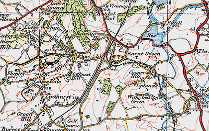 Old map of Barnt Green in 1919
