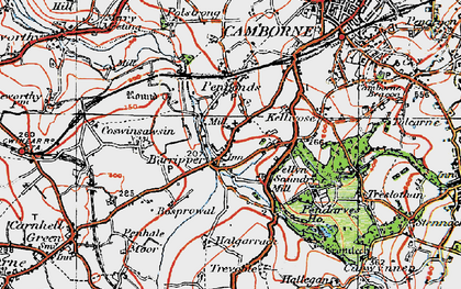Old map of Barripper in 1919