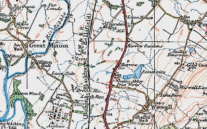 Old map of Barrow in 1924
