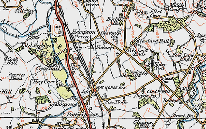 Old map of Bay Horse in 1924