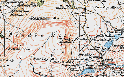 Old map of Beacon in 1924