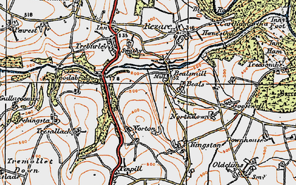 Old map of Bealsmill in 1919