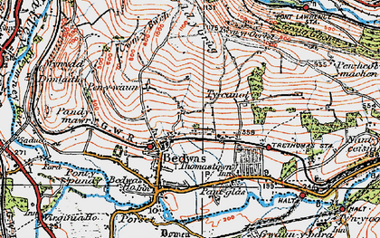 Old map of Bedwas in 1919