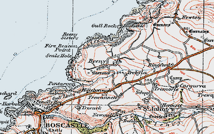 Old map of Beeny in 1919