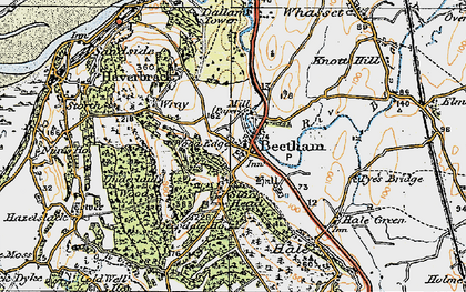 Old map of Beetham in 1925