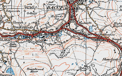 Old map of Belgrave in 1924