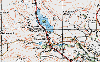 Old map of Belmont in 1924