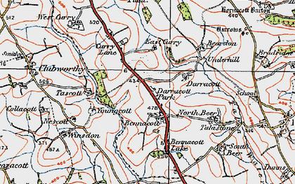 Old map of Bennacott in 1919