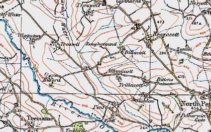 Old map of Billacott in 1919