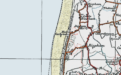 Old map of Bispham in 1924