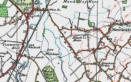 Old map of Black Moor in 1924