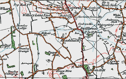 Old map of Blackleach in 1924