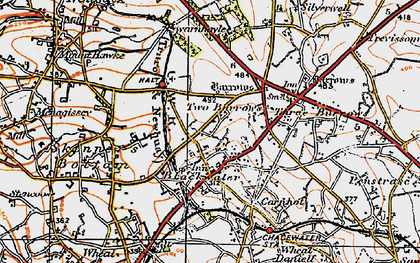 Old map of Blackwater in 1919