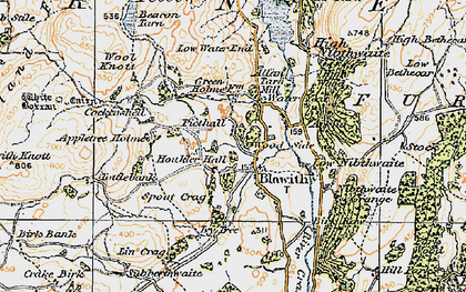 Old map of Blawith in 1925
