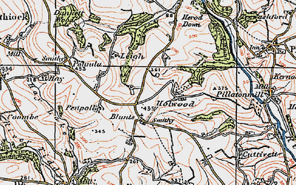 Old map of Blunts in 1919