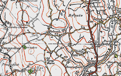 Old map of Bodilly in 1919