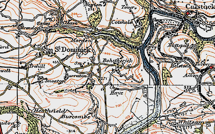 Old map of Bohetherick in 1919