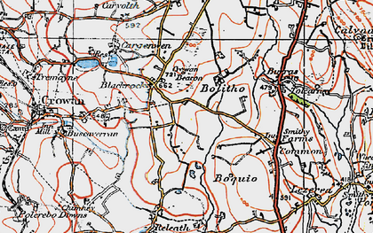 Old map of Bolitho in 1919