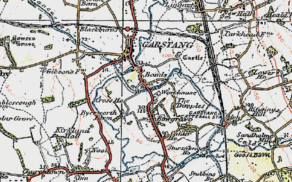 Old map of Bonds in 1924