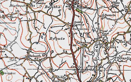 Old map of Boquio in 1919