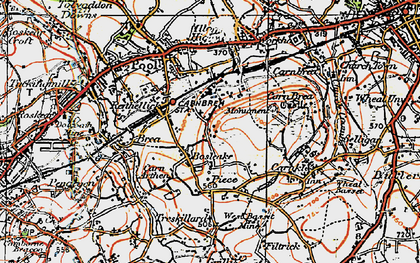 Old map of Bosleake in 1919