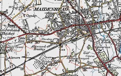 Old map of Boyn Hill in 1919