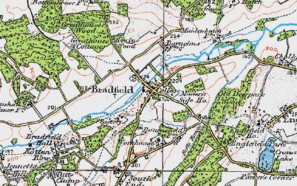 Old map of Bradfield in 1919