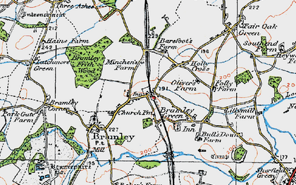 Old map of Bramley in 1919