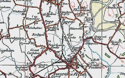 Old map of Breedy Butts in 1924