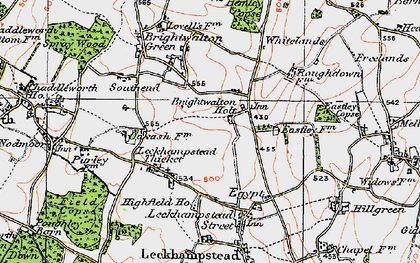 Old map of Brightwalton Holt in 1919