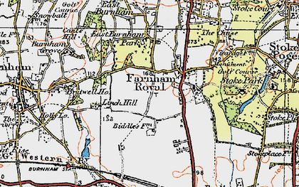 Old map of Britwell in 1920