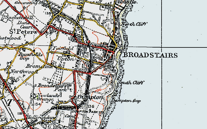 Old map of Broadstairs in 1920